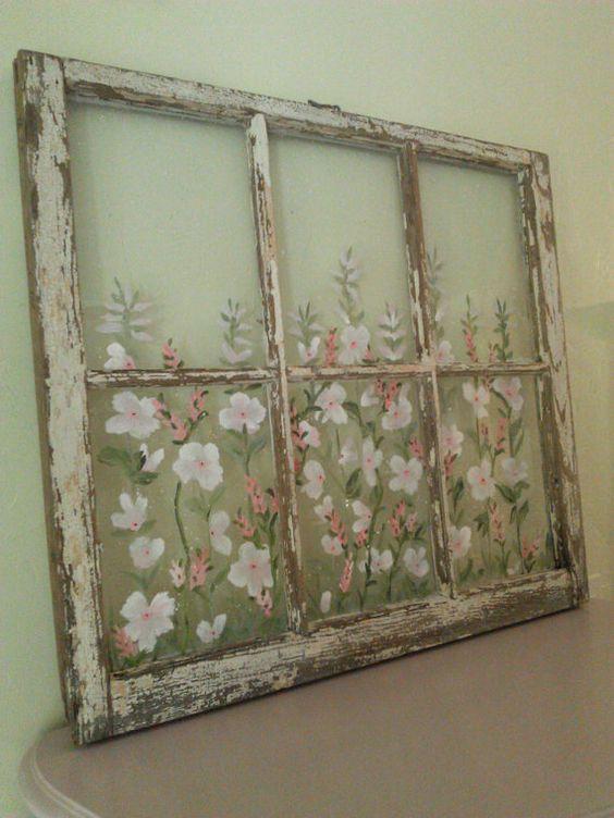 Стильний будинок повинен мати стильні картини… намальовані на старих шибках