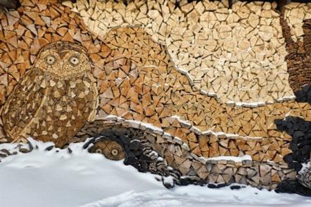 Ландшафтний дизайн подвір'я – дрова, як декор (40 фото)