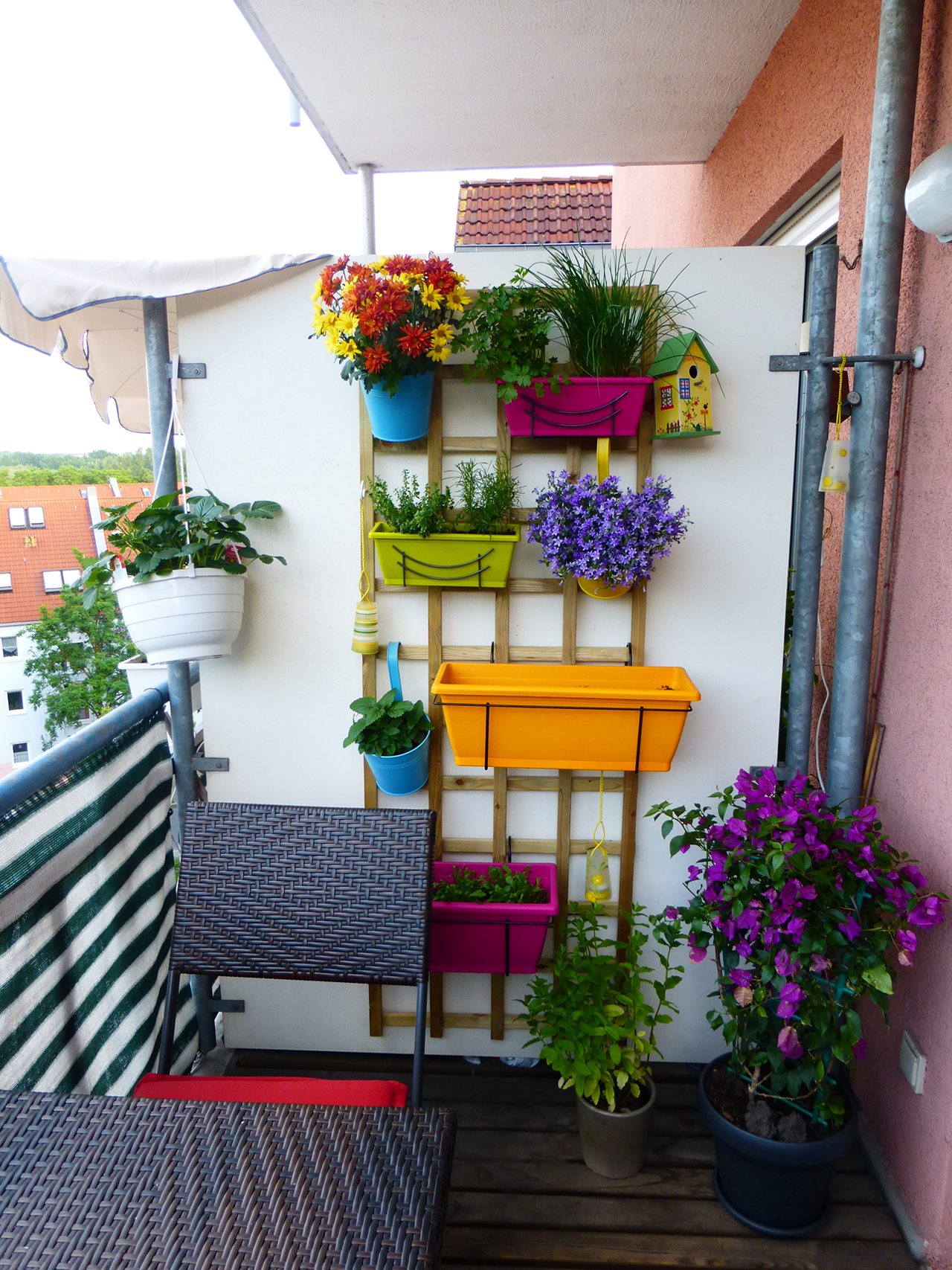 Balcony flower garden ideas home decorating ideas - champsba.