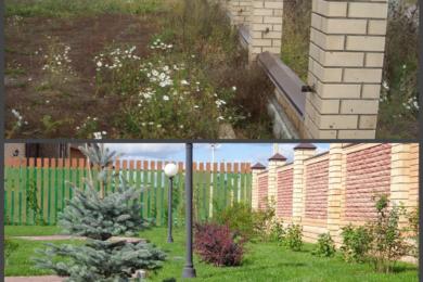 Ландшафтний дизайн подвір'я - до і після, фото 1