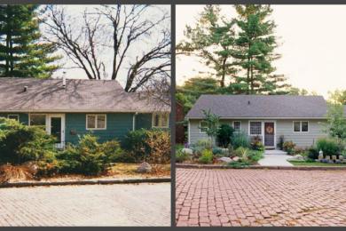Ландшафтний дизайн подвір'я - до і після, фото 11
