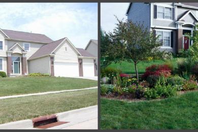 ландшафтний дизайн подвіря картинка 16 до і після