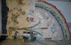 мозаїка з битого кахеля фото