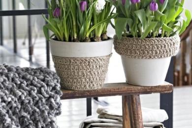 Можна перевдягати горщики для кімнатних рослин по сезону