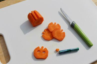 Морква у формі гарбуза