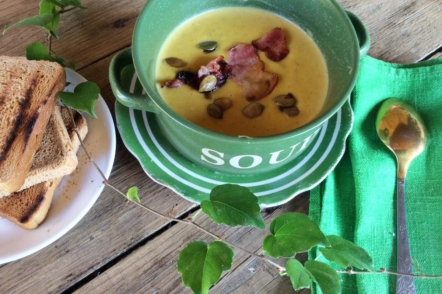Крем-суп з цибулі-порей