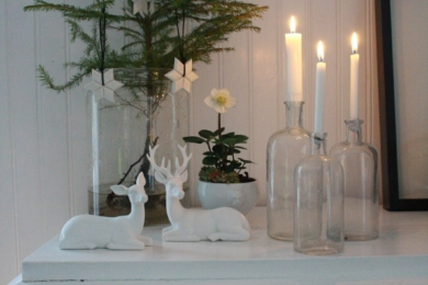 Новорічні свічники з пляшок