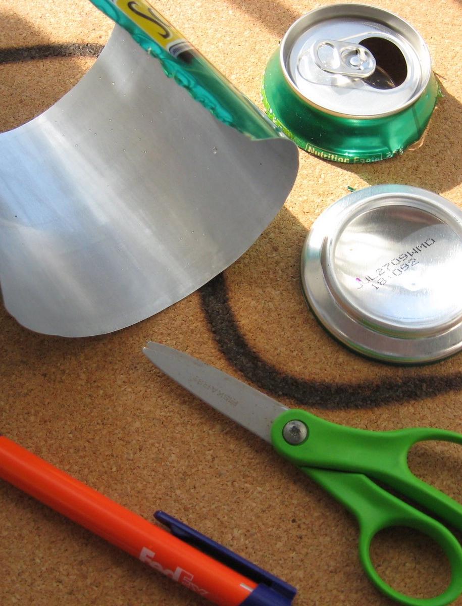 Спосіб виготовлення маркерів для рослин з алюмінієвих банок