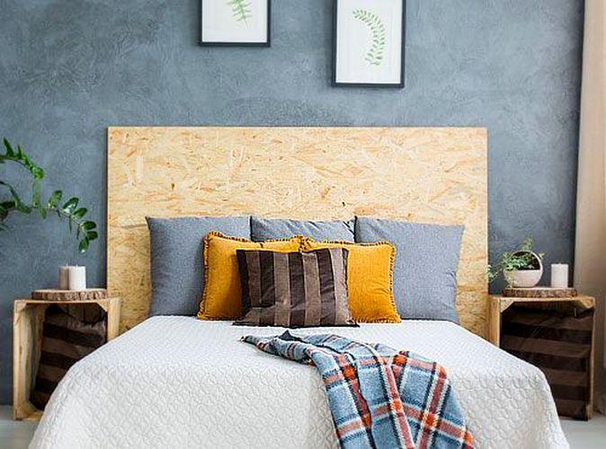 Узголів'я ліжка з фанери