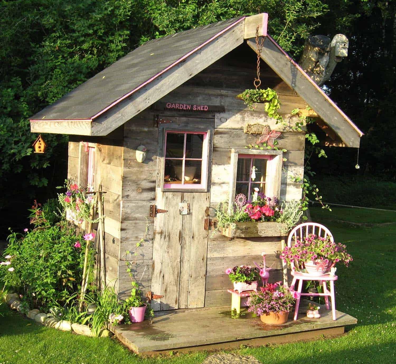 как украсить дачный домик своими руками фото картонных