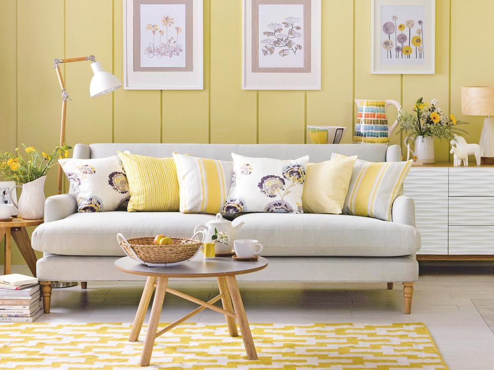 Жовтий колір в інтер'єрі — 40 ідей з фото