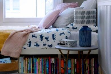 Зберігання книжок у ліжку