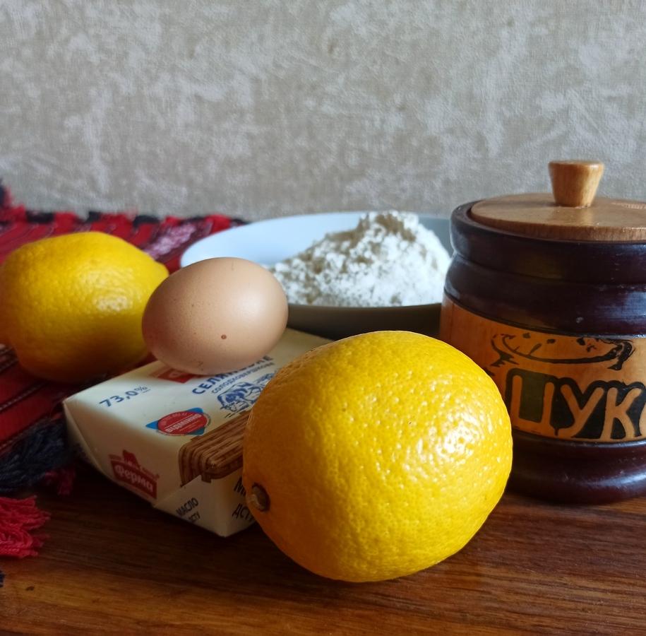 Інгредієнти для лимонного пирога