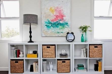 Плетені кошики у декорі інтер'єру — 50 ідей з фото