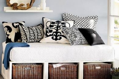 Плетені кошики у декорі інтер'єру
