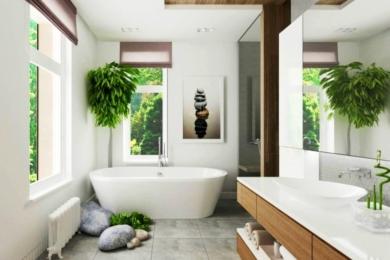 Дизайн ванної кімнати у заміському будинку