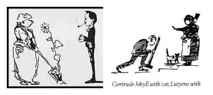 """Лютьєн був чудовим креслярем і дотепним карикатуристом. Він зробив кілька мультфільмів з Гертрудою Джекіл. Він жартівливо називав свого давнього друга """"тіткою шишок та матір'ю всіх цибулин"""""""