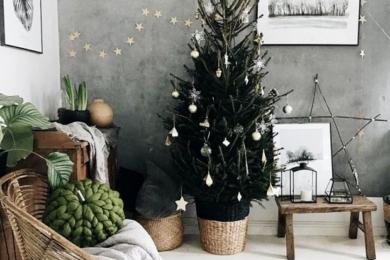 Новорічний декор у скандинавському стилі