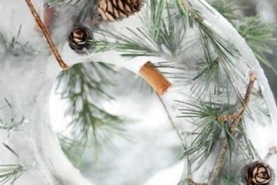 Новорічний декор з льоду для вашого саду