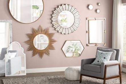 Дзеркало в інтер'єрі — 30 ідей з фото