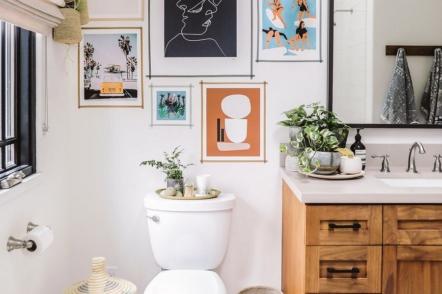 Оформлення туалету — 30 ідей з фото