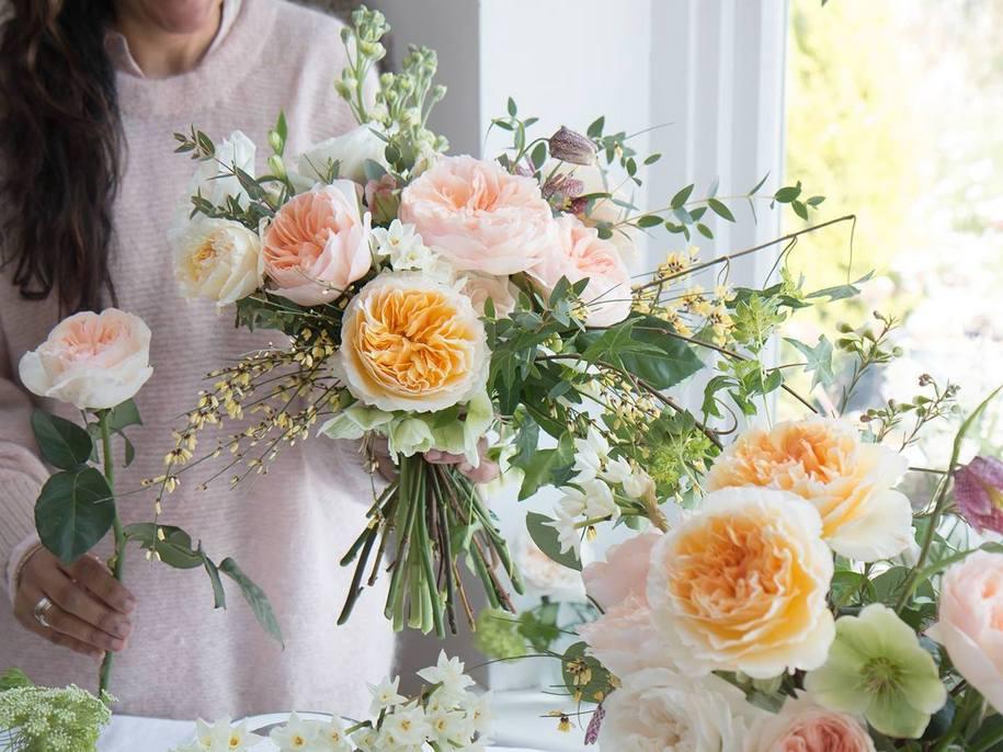 «Весільні троянди» Девіда Остіна – колекція сортів на зріз
